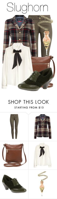 """""""Slughorn - Potions"""" by the-wonders-fashion ❤ liked on Polyvore featuring H&M, Armani Jeans, M&Co, Hush Puppies, harrypotter, hogwarts, slughorn and Irresponsible_Teacher"""