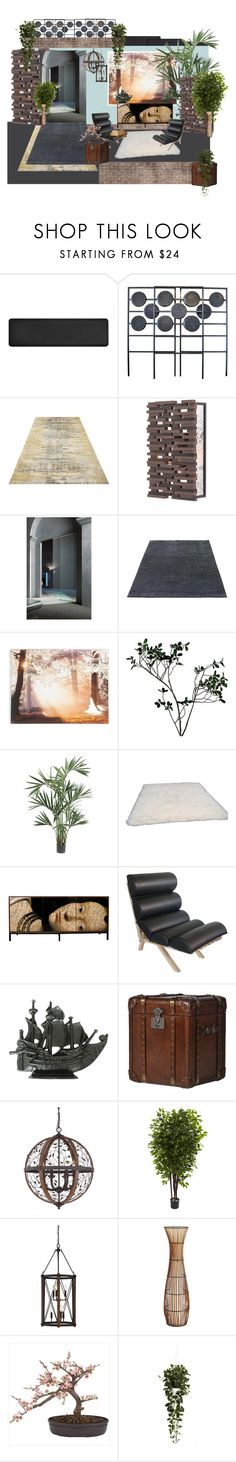 """airie"" by jastil ❤ liked on Polyvore featuring interior, interiors, interior design, home, home decor, interior decorating, Smart Step, Currey & Company, Graham & Brown and Abigail Ahern"