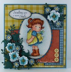 Card using Magnolia stamp 'Hello Little Butterfly' from Magnolia-licious by Norma Lee of From My Craft Room. / http://www.magnoliastamps.us/ / #crafts #cards