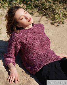 Book Woman Sport 94 Autumn / Winter | 34: Woman Sweater | Lilac-Pearl black berry