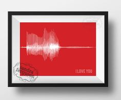 I Love You - Voiceprint - Soundwave art - DIGITAL FILE