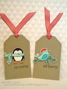 Handmade by Michelle: Some Christmas tags