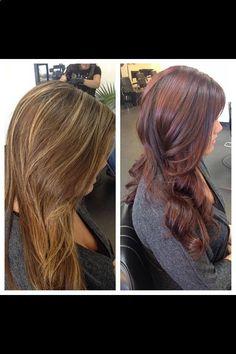 Auburn hair, Auburn hair color, Long hair