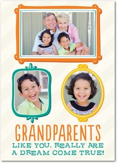 Our Dream Family | Grandparents Day Cards from Treat.com Projects For Kids, Crafts For Kids, Grandparents Day Cards, Room Mom, Cute Crafts, Baby Ideas, Fathers Day, Daddy, Card Making