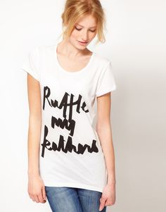 ASOS Ruffle My Feathers T-Shirt
