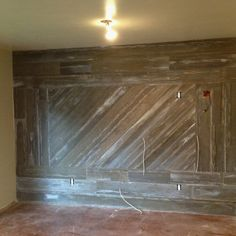 Barn Wood Wall Just Make Smaller And Add A Hearth Over The Fireplace