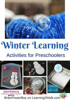 Winter Learning Activities for Preschoolers from Learning 2 Walk
