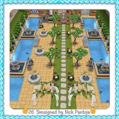 #Sims #Freeplay I like the pool pavers and the grass making a strip.