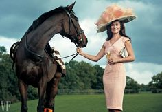 REIN CHECK The author with Fortis et Fidelis, an 11-year-old Thoroughbred, at Coworth Park, in Berkshire, U.K.