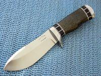 Custom made hunting knives - Carbon Fibre Bullnose Skinner Pictured