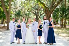 Navy + White Bridal Party // Nautical Haig Point on Daufuskie Island Hilt Head SC Wedding // Dana Cubbage Weddings // Charleston SC + Destination Wedding Photographer