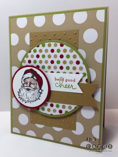 Stampin' Up!, Mojo 319, Best of Christmas, Endless Wishes Photopolymer, Season of Style DSP Stack, Circles Collection Framelits, Perfect Polkadots Embossing Folder, 1 3/4 Circle Punch