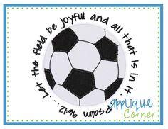 Soccer Ball Verse Applique Design