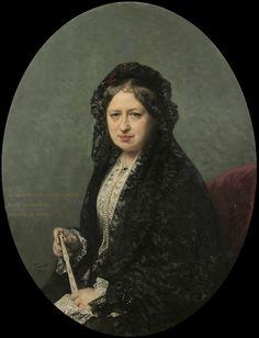 Federico de Madrazo, Mª Encarnación Cueto de Saavedra, Duquesa de Rivas, Óleo sobre lienzo, 1878