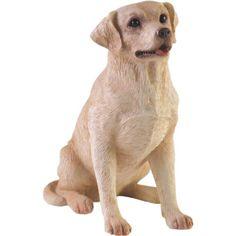 Sculpture: Sandicast Small Size Yellow Labrador Retriever Sculpture Sitting