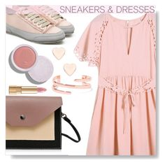 """""""Sneakers and dress"""" by simona-altobelli ❤ liked on Polyvore featuring Kenneth Jay Lane, Ted Baker, Dolce&Gabbana, MyStyle and sneakers"""
