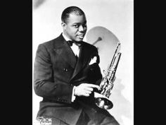 He was considered to be the best musician in jazz history. His nickname is Satchmo. He was most known for his amazing skills on the trumpet. He also had a band called Louis Armstrong and his Stompers. Louis Armstrong, Jazz Artists, Jazz Musicians, Music Artists, Sound Of Music, My Music, Soundtrack, Rap, Movies