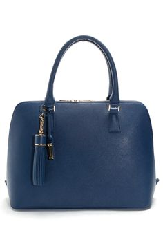 The 'What Courtney Wore' Navy Saffiano Leather Tote