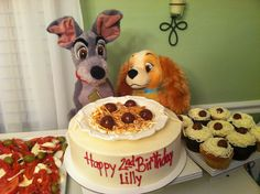 Lady and the Tramp cake!