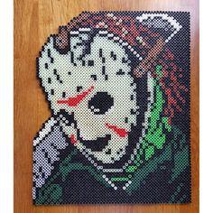 Jason (Friday the 13th) perler beads by dcs8bit - Pattern: https://de.pinterest.com/pin/374291419010661924/