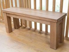 120cm Country Oak Chunky Rustic Solid Oak Indoor Bench