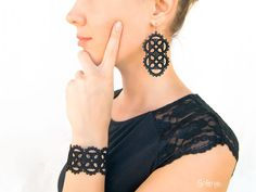 Exhilarating Jewelry And The Darkside Fashionable Gothic Jewelry Ideas. Astonishing Jewelry And The Darkside Fashionable Gothic Jewelry Ideas. Pagan Jewelry, Handmade Jewelry Bracelets, Gothic Jewelry, Jewelry Ideas, Boho Jewelry, Vintage Jewelry, Unique Jewelry, Tatting Earrings, Lace Earrings