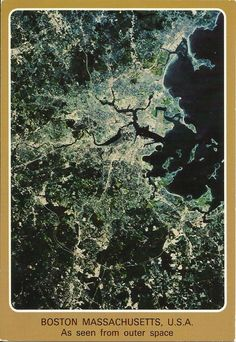 As seen from outer space, Boston, Massachusetts, USA