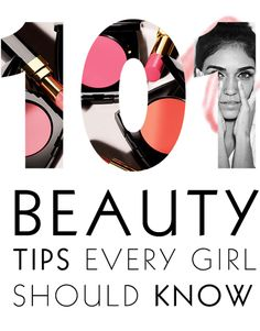 101 beauty tips every girl should know Pretty sure I have a few of these pins...guess everyone knows em by know lol