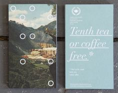 Loyalty card series created for local coffee shop, North Tea Power. DR.ME