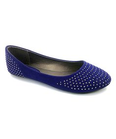 Blue Embellished Flat