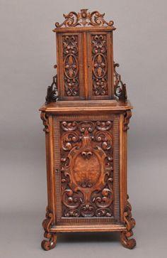 Walnut Cabinet (c.1880)  http://www.loveantiques.com/walnut-cabinet-(c1880)-2920