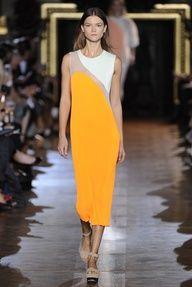 Asymmetric yellow dress