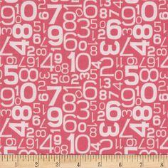 Riley Blake Gracie Girl Numbers Pink - fabric.com