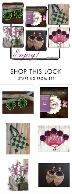 """""""Enjoy!"""" by fivefoot1designs ❤ liked on Polyvore featuring rustic and vintage"""