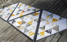 Triangular Echo Quilted Placemats