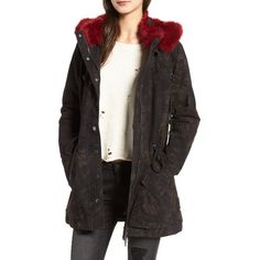 Women's Blanknyc Attention Span Faux Fur Trim Jacket ($178) ❤ liked on Polyvore featuring outerwear, jackets, attention span atu, faux fur trim jacket, blanknyc jacket and blanknyc