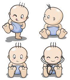 Babies and clip art: cartoon baby, children, kids vector icon template clip Clipart Baby, Goth Baby, Cartoon Drawing Tutorial, Cartoon Drawings, Cartoon Wallpaper, Decoracion Baby Shower Niña, Baby Cartoon Characters, Design Alien, Art Couple