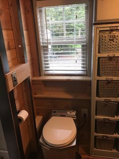 This is a 320 sq. custom tiny house on wheels that's for sale in Vancouver, Washington and you're invited to come check it out! Bathroom Windows, Tiny House Bathroom, Tiny Houses For Sale, Tiny House On Wheels, Rv Living, Tiny Living, Living Room, Built In Bathroom Storage, Vancouver