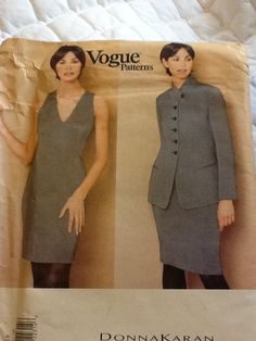 Straight Dress /& Skirt Sewing Pattern Vogue 1656 Donna Karan NY Fitted Jacket