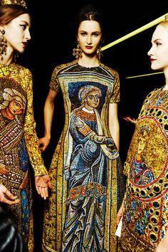 Backstage Dolce & Gabbana Fall-Winter 2013