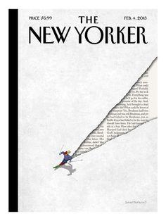 The New Yorker Cover - February 4, 2013 Regular Giclee Print af Birgit Schössow på AllPosters.dk