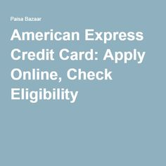 Apply for Amex Bank Credit Cards online and get various benefits and rewards. There are several types of Amex Bank credit cards on which you can earn huge cashback. Apply now!