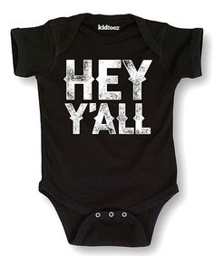 Look at this #zulilyfind! Black 'Hey Y'all' Bodysuit - Infant by Rodeo Rags #zulilyfinds