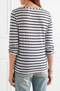 Splendid - Venice Striped Slub-jersey Top - White - x large