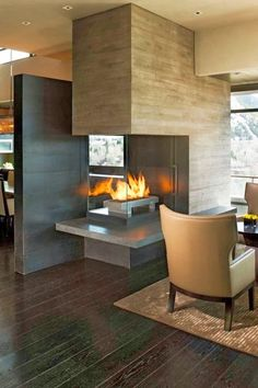 World of Architecture: 20 Contemporary Fireplace Ideas
