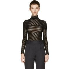 Issey Miyake Black Mesh Turtleneck (435 AUD) ❤ liked on Polyvore featuring tops, sweaters, black, turtleneck sweater, long sleeve pullover sweater, mesh top, long sleeve sweater and long sleeve turtleneck