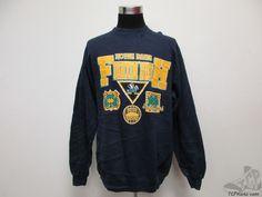 Vtg 90s 20 20 Notre Dame Fighting Irish Crewneck Sweatshirt sz L University ND #2020 #NotreDameFightingIrish