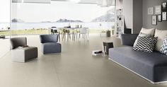 Extreme 300x150 cm porcelain tiles with thin thickness of 3 or 6 mm, minimising grouting and permitting unique new architecture solutions from Aeon