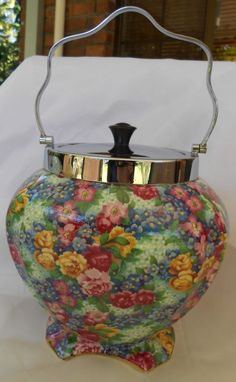 Royal Winton Julia Chintz Athena Biscuit Barrel 1951-52