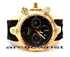 BLACK N GOLD RUBBER BAND @ WWW.ARCTICWRIST.COM